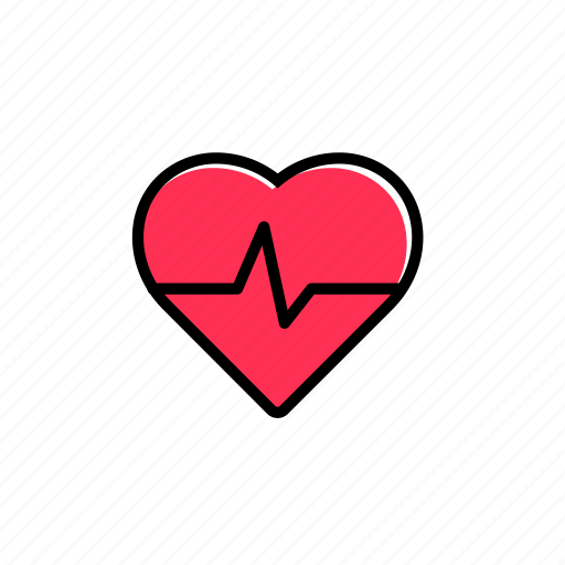 colored, endurance, excercise, heart, heartbeat, sport, training icon