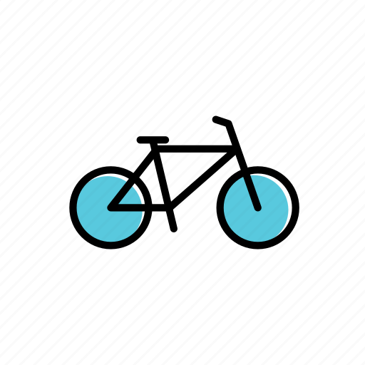 bicycle, bike, colored, excercise, sport, training icon