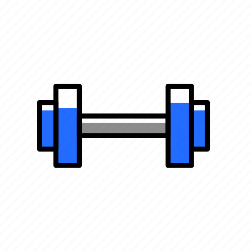 colored, dumbbells, equipment, excercise, gym, sport, training icon