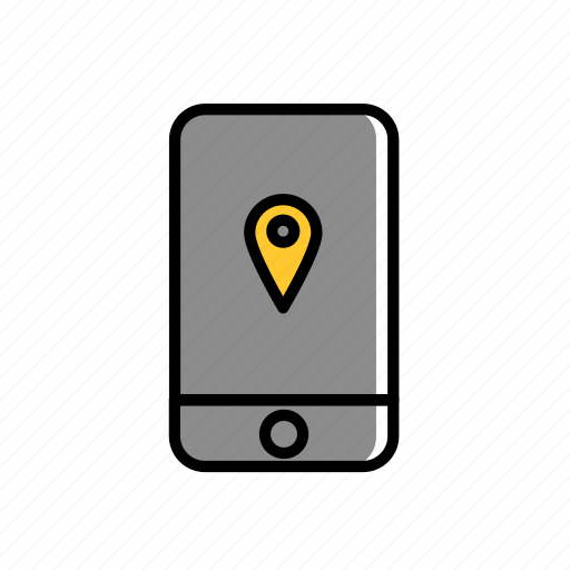colored, direction, excercise, iphone, location, sport icon