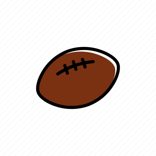 ball, colored, excercise, football, rugby, sport, trainig icon