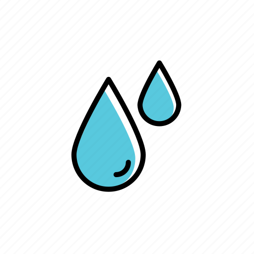 colored, drop, excercise, sport, sweat, water icon