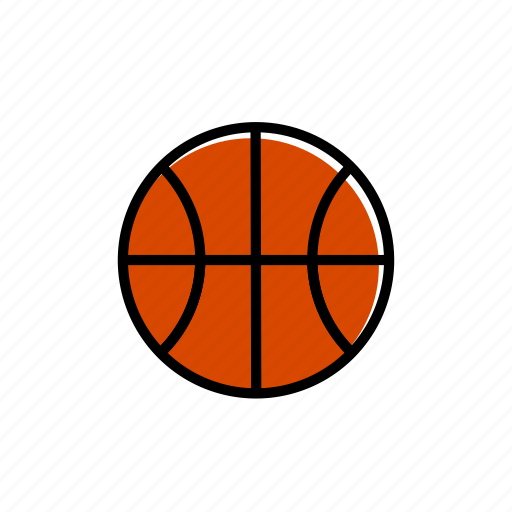 ball, basketball, colored, excercise, sport icon