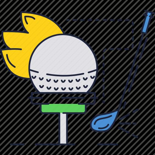ball, club, field, golf, shot, sport, stick icon