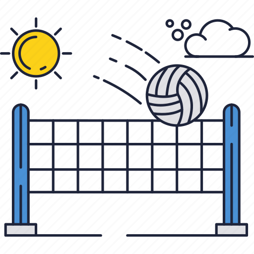 ball, game, net, sport, sun, volleyball icon
