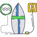 board, ocean, sea, surfboard, surfing, waves icon
