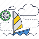 boat, ocean, sail, sea, wind, yacht icon
