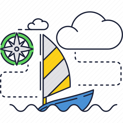 boat, ocean, sail, sea, wind, yacht icon