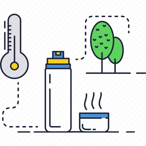hot, nature, picnic, tea, thermometer, thermos, water icon