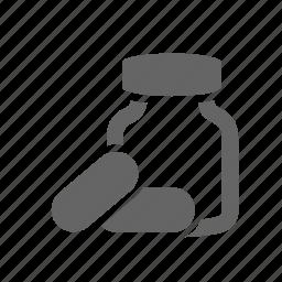 acid, bcaa, bottle, capsule, healthcare, supplement, vitamin icon