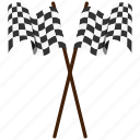 flag, rally, sport, start icon
