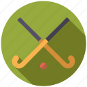 ball, equipment, field hockey, hockey sticks, sports, team sports icon