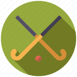 ball, equipment, field hockey, hockey sticks, sports, team sports icon