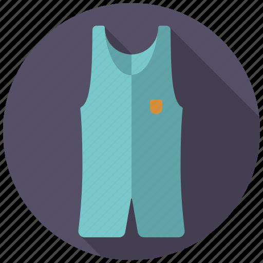athletics, equipment, gymnastics, sports, sports wear, wrestling suit icon
