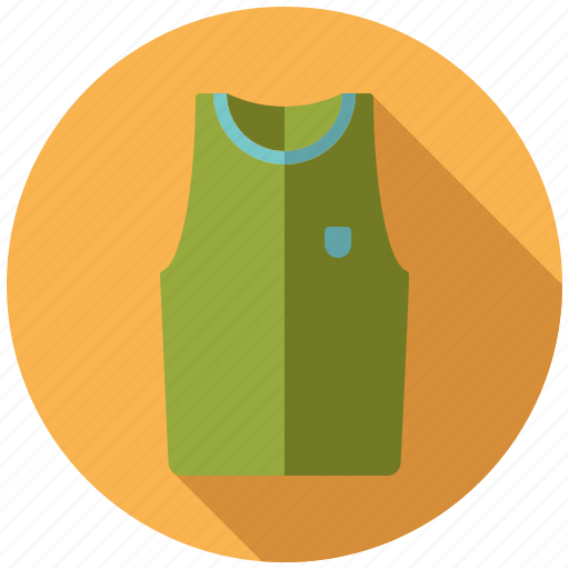 athletics, gymnastics, muscle shirt, shirt, sports, sports wear, tank top icon