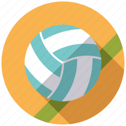 ball, beach volleyball, equipment, sports, team sports, volleyball icon