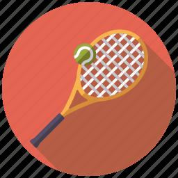 ball, equipment, racket, sports, tennis, tennis ball icon
