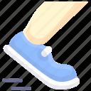 foot, run, shoe icon