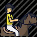 gallop, horse, jockey, race, sport icon