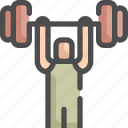 olympic, sport, sports, weight, weightlifting icon