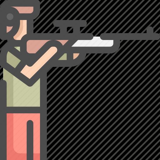gun, olympic, shoot, shooting, shotgun, sport, sports icon