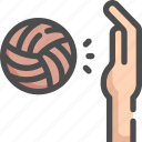 ball, hand, olympic, sport, sports, volleyball icon