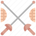 fencing, fight, kendo, olympic, sport, sports, sword icon