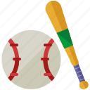 ball, baseball, bat, exercise, game, sports icon