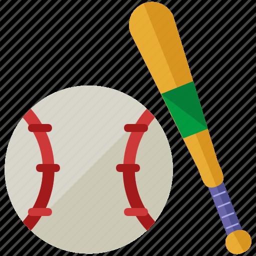 ball, baseball, bat, exercise, game, sports icon