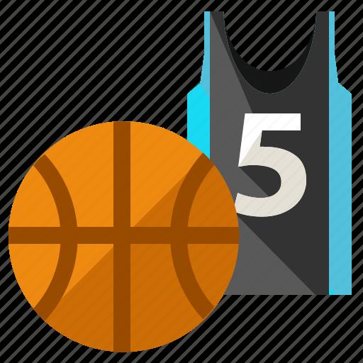 ball, basketball, game, jersey, shirt, sports icon