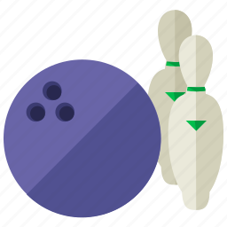 ball, bowling, exercise, game, pins, sport icon