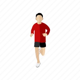 exercise, people, run, sport, trainer icon