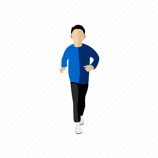 exercise, man, people, running, sport, trainer icon