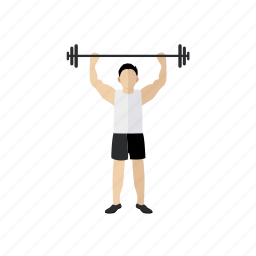 biceps, exercise, people, sport, trainer, weightlift icon