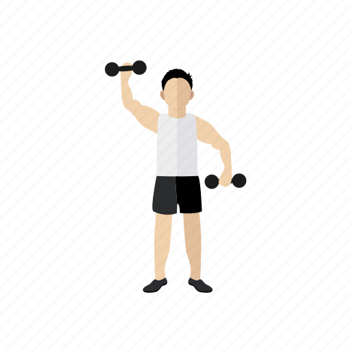 biceps, exercise, hand, sport, trainer, weightlift icon