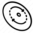 disc, frisbee icon