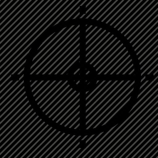 shoot, target icon