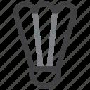badminton, birdie, shuttle, shuttlecock icon