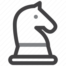 chess, horse, plan, solution, strategy icon