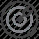 bullseye, dartboard, goal, target icon