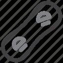 snowboard, snowboarding icon