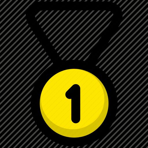 achievement, award, badge, medal, score, trophy, winner icon