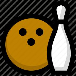 bowling, race, sport icon
