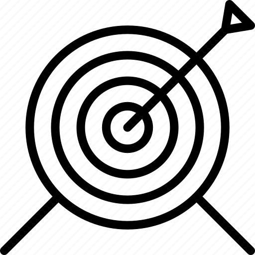 archery, distance, pointing, target icon