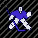 goalie, hockey, ice, score icon