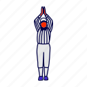 penalty, referee, umpire icon