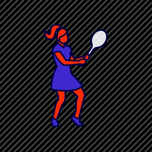 player, sports, tennis icon