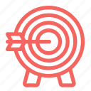 archery, arrow, bullseye, distance, sports, target icon