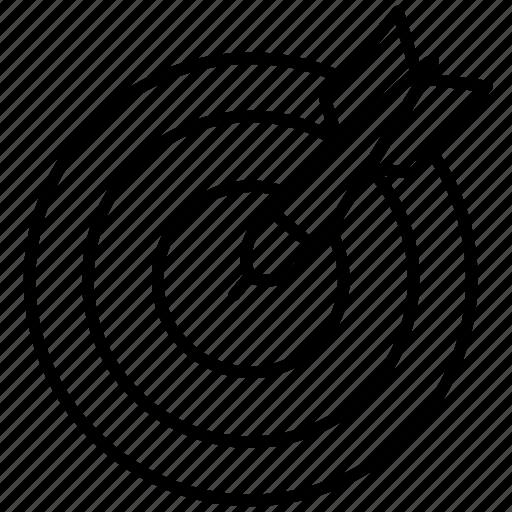 arrow, dart, distance, hobby, sports, target icon