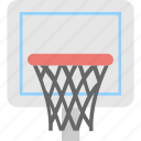 backboard, basketball, net, play, sports icon